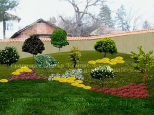 3D визуализация на двор